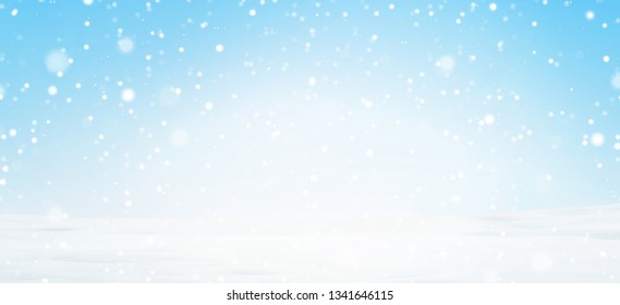 winter snow background 3d-illustration