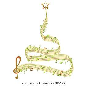 Winter tree of music
