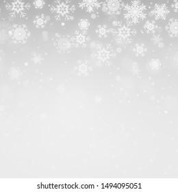 Winter white background christmas background snowflake