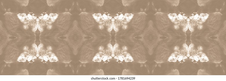 Wintry Yellow, Pale On Old Paper. Dip Dye. Abstract Seamless Patchwork Wallpaper. Washing Effect Background. Modern Design. Abstract Slavic Stylized Element.
