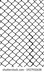 wire mesh of fence isolated on white background