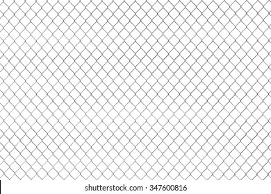 Wired fence pattern on a white background