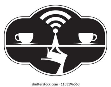 Wireless Cafe Icon