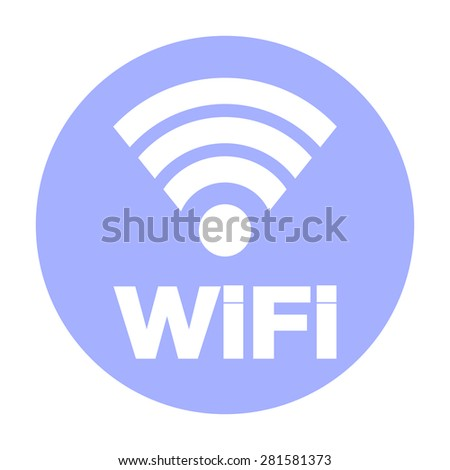 Wireless Network Symbol Internet Connection Icon Stock Illustration