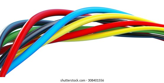wires color on a white background