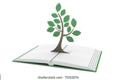 Wisdom. Pop-Up Book with a Tree