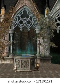 The wishing well background