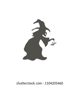 Witch icon. witch silhouette