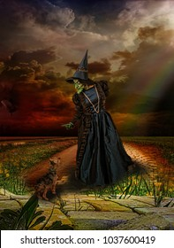 THE WIZARD OF OZ WITCH AND TOTO