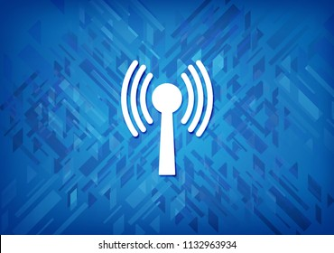 Wlan network icon isolated on blue background abstract illustration