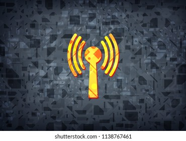 Wlan network icon isolated on black background abstract illustration