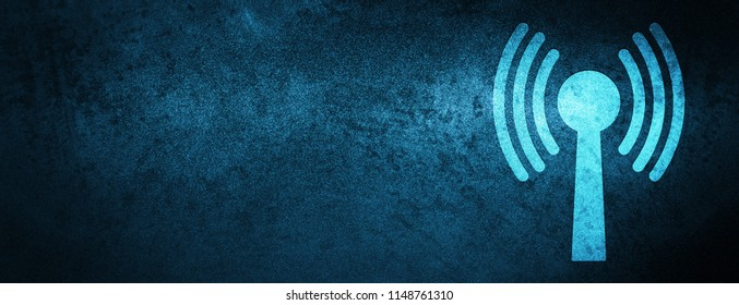 Wlan network icon isolated on special blue banner background abstract illustration