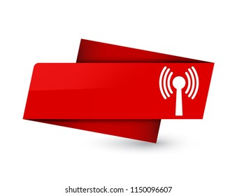 Wlan network icon isolated on premium red tag sign abstract illustration