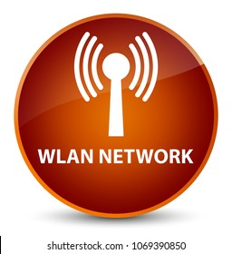 Wlan network isolated on elegant brown round button abstract illustration