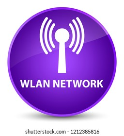 Wlan network isolated on elegant purple round button abstract illustration