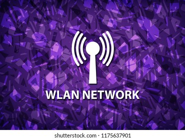Wlan network isolated on purple background abstract illustration