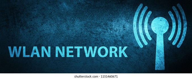 Wlan network isolated on special blue banner background abstract illustration