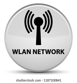 Wlan network isolated on special white round button abstract illustration