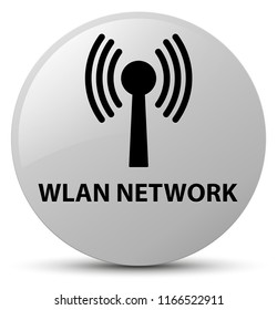 Wlan network isolated on white round button abstract illustration