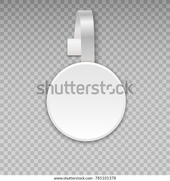 Wobbler Mockup Transparent Background Blank White Stock