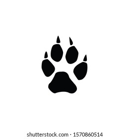 wolf footprint isolated on white background