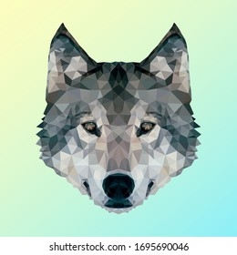 Wolf in Low Poly Design