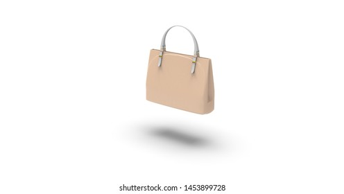 Woman Bag 3D Rendering isolated on White