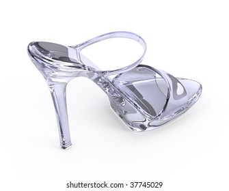 Woman crystal modern high heels shoe
