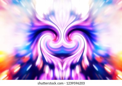 woman divine energy double spiral abstract symbol