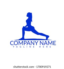 woman of fitness silhouette character