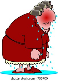 Woman having a hot flash