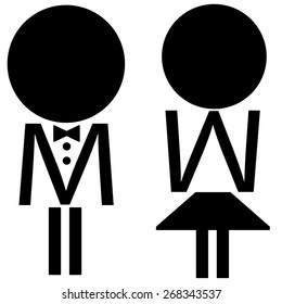 Woman and man icons