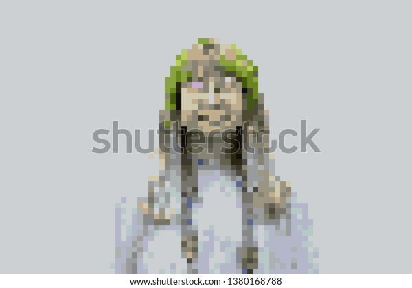 Woman pixel art