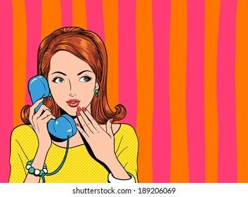 woman receiving phone