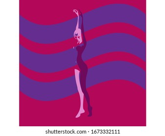 woman, silhouette, dancer, dance, ballet, body, young, beautiful, ballerina, beauty, white, isolated, dancing, black, pose, people, illustration,