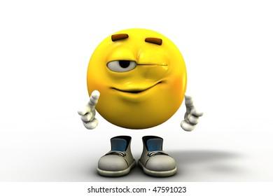 Imágenes, fotos de stock y vectores sobre Blink Smiley