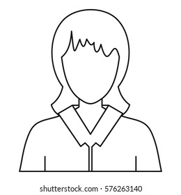 Women avatar icon. Outline illustration of woman avatar  icon for web