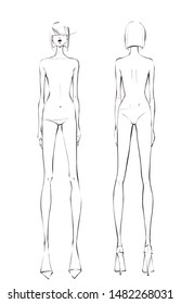 women body chart in black and white