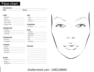 women face chart in black and white