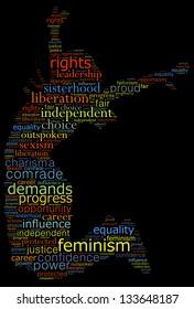 Women liberation concept