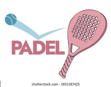 Women padel tennis logo design on white background. editable