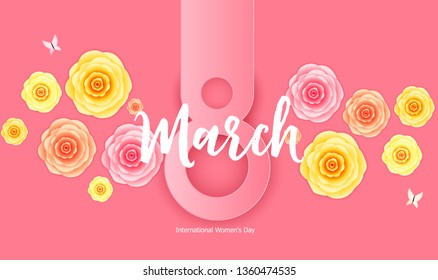 Women's Day Greeting Card 8 March  Illustration