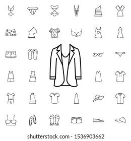 Women's jacket icon. Universal set of summer clothes for website design and development, app development