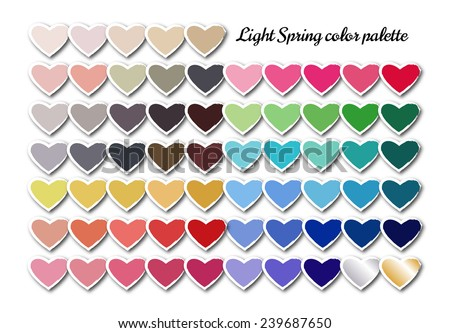 womens seasonal colour palette light spring stock illustration