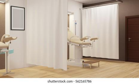 Women's surgery. 3D rendering