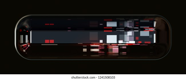 Wonderful abstract illustrated glass object 3D panorama design