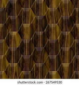 Wood decor hexagon seamless texture optimal use for background, floor