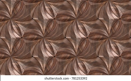 Wood design 3d panels eco style. Material wood walnut. High quality seamless realistic texture.