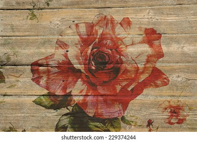 wood and flowers
