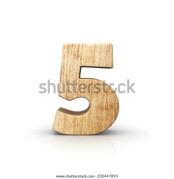 Wood number five front view